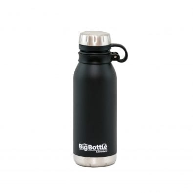 Jet Black Adventure 500ml Vacuum Insulated Water Bottle