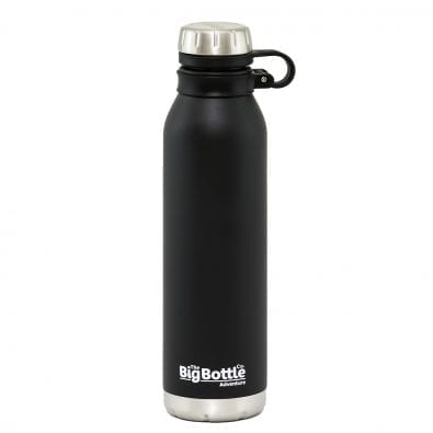 Jet Black 750ml Vacuum Insulated Water Bottle